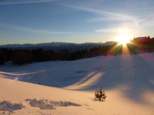 jour de l'an paysage neige